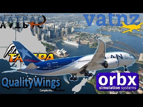 Qualitywings 787-8, VATSIM NZ Cross The Ditch, Sydney To Auckland