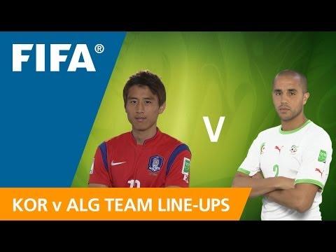 Korea Republic v. Algeria - Teams Announcement
