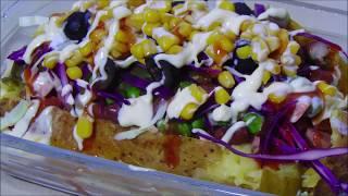 Baked Potato Recipe - Loaded Baked Potato - Kumpir Recipe - Turkish Recipe