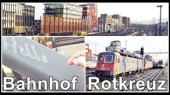 Railways Station Rotkreuz, Switzerland / Personen & Güterzüge am Bahnhof Rotkreuz, Zug, Schweiz 2020