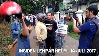 Brutalnya Pemotor di TROTOAR dan Mengancam Pejalan Kaki