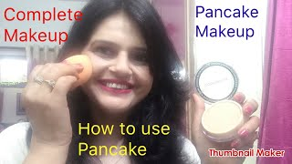 HOW TO USE PANCAKE MAKEUP/ Complete PANCAKE makeup full tutorial/Seema jaitly