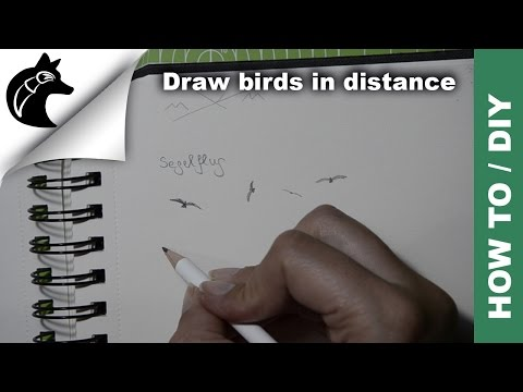 How To Draw Birds In Distance