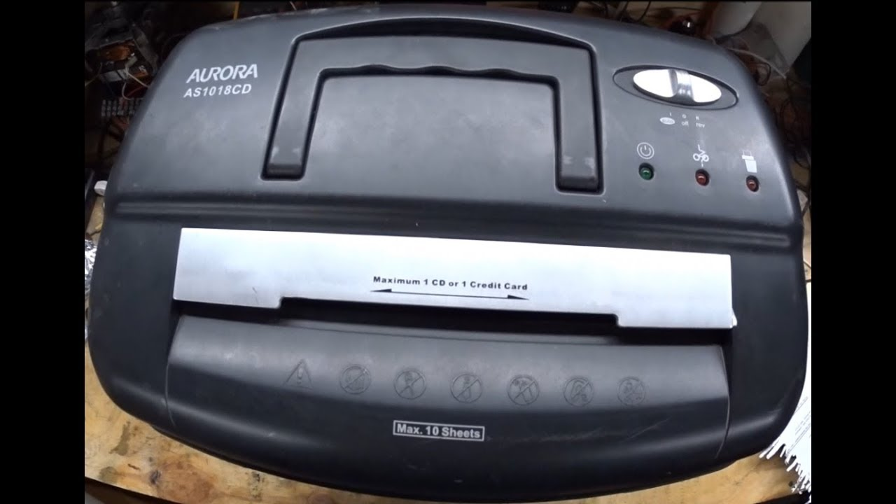 Aurora As1018cd Shredder Repair Wont Feed Paper Wont Stop