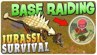 AMAZING LOOT for BEGINNER in PLAYER BASES - Jurassic Survival Gameplay Android