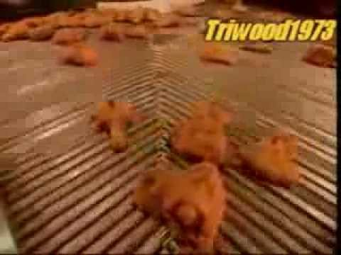 KFC Chicken Processed and Cooked in a Factory Video- Inside production kitchen