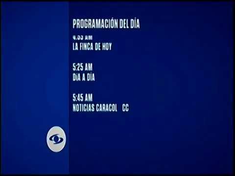 Programación Caracol Televisión Colombia 22/9/16