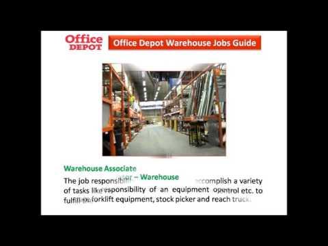 Office Depot Warehouse Jobs