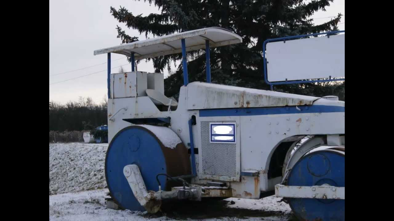 Oldtimer Straßenwalze DW Verdichter classic Car VEB Baumaschinen Gatersleben