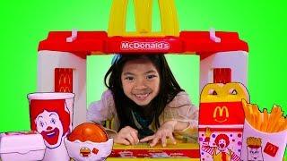 Download Emma Pretend Play w/ MCDONALDS Toy & Fun Garage Sale Mp3 and Videos