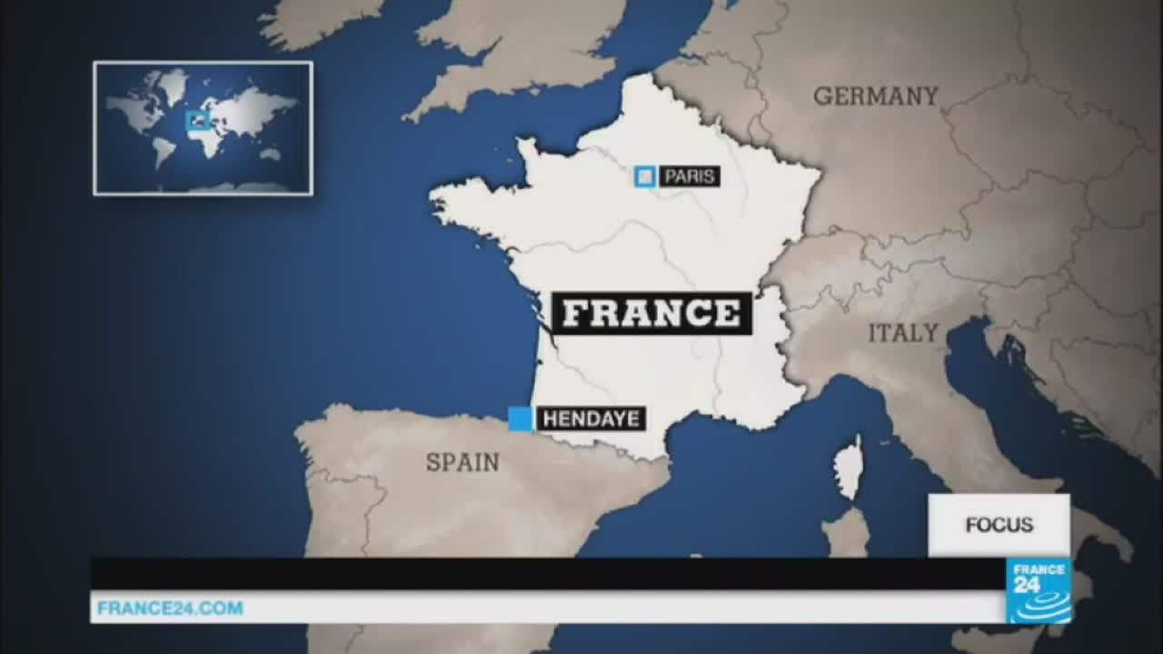 Map Of Spain France And Italy With Cities.French City Near Spanish Border Offers Safe Haven For Refugees