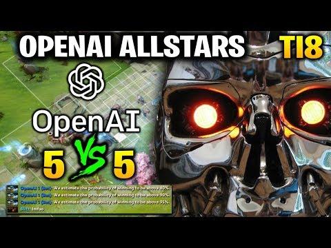 OpenAI FIVE vs TEAM HUMAN - MATCH 1 2018 - OpenAI Five Benchmark TI8