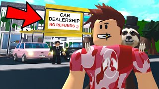 I Went To A BLOXBURG CAR DEALERSHIP.. They SCAMMED People! (Roblox)