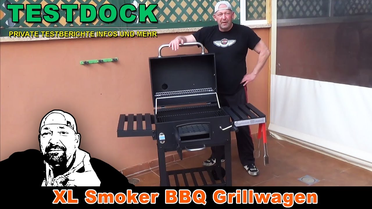 Taino Holzkohlegrill Test : Test xl smoker grillwagen youtube