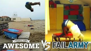 Video People are Awesome vs FailArmy!! Trampoline Tricks Edition download MP3, 3GP, MP4, WEBM, AVI, FLV Februari 2018