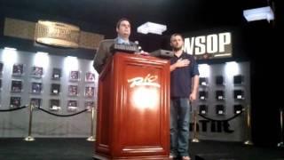 Ken Griffin WSOP bracelet ceremony