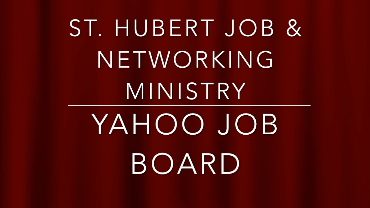 St. Hubert Job & Networking Ministry-Introduction