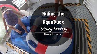 Riding the AquaDuck POV  Disney Fantasy  July 2019  Disney Cruise Line (DCL)