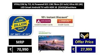 iFFALCON by TCL AI Powered K31 138.78cm (55 inch) Ultra HD (4K)