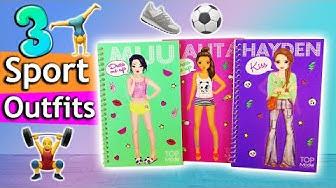 Topmodel SPORT Outfits stylen   Dress me up Challenge   3 coole Ideen im Topmodel Malbuch   deutsch