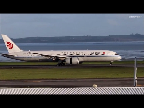 Air China 787-9 Dreamliner arriving direct from Beijing