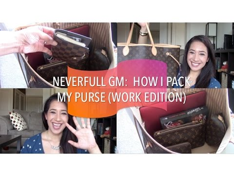 LV Neverfull GM: How I Pack My Purse (Work Edition)   May 2015