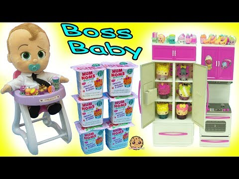 Thumbnail: Feeding The Boss Baby In High Chair Surprise Blind Bags Shopkins + Num Noms