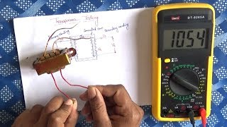 How To Test a Transformer    Transformer testing using Multimeter in Hindi -