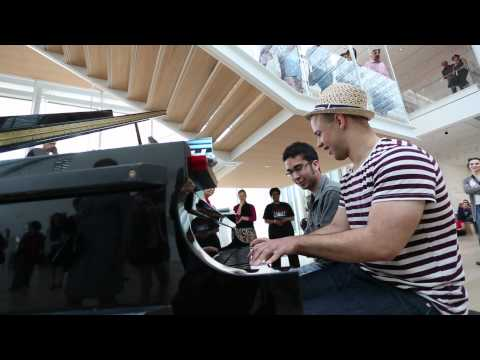 Pianos in Public Spaces duet from the Art Institute of Chicago