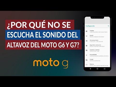 ¿Por qué no se Escucha el Sonido del Altavoz de mi Moto G6 o G7?
