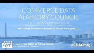 Commerce Data Advisory Council (CDAC) - Oct 28, 2016