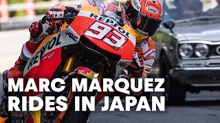 Marc Márquez Rides The Famous Hakone Turnpike In Japan