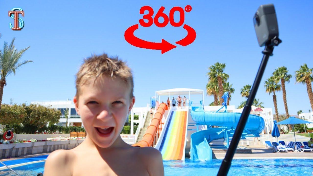 Аквапарк в Египте ????! Видео 360 Виртуальная реальность ???? ВЛОГ Тима снял сам | AquaPark 360 VR
