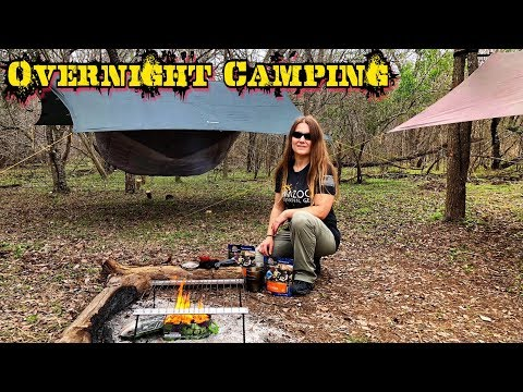 Overnight Wilderness Backpack Camping with a Girl