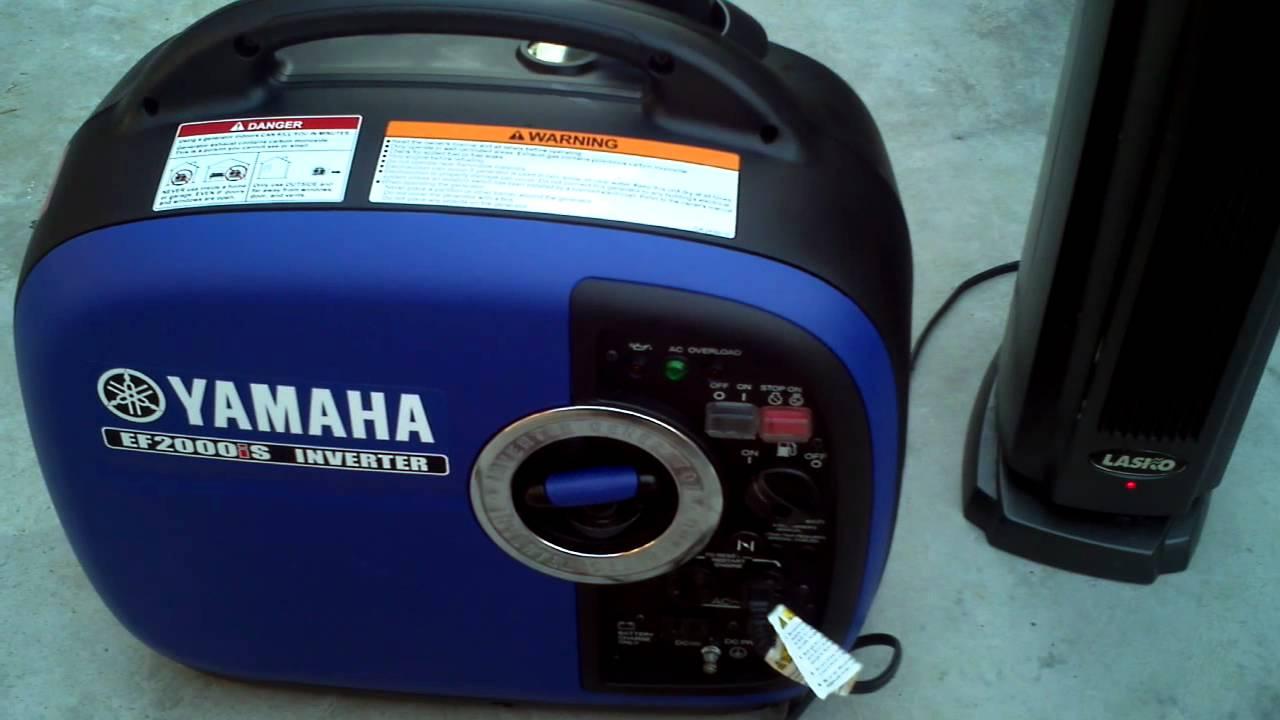 Yamaha ef2000is inverter generator youtube for Yamaha inverter generator vs honda