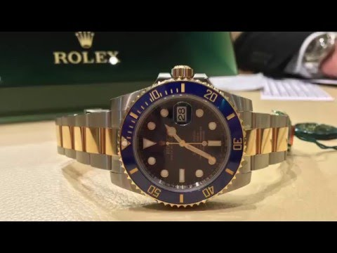 Rolex Submariner Two Tone Blue Gold 2016