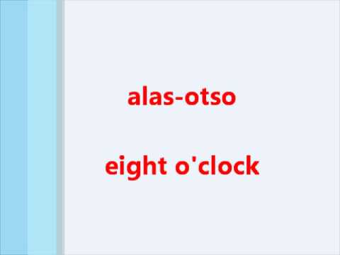 Learn Tagalog (Filipino) Language, Telling the Time