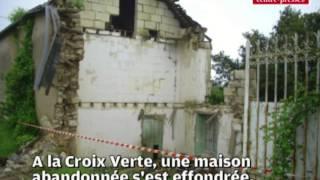 VIDEO: inondations et éffondrement de maison à Saix