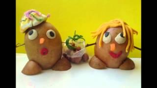Забавные детские поделки из картошки своими руками