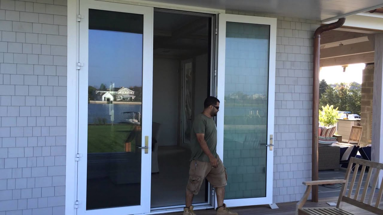 Fleetwood Outswing Door with Interior Sliding Screen YouTube