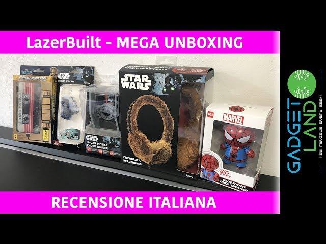 LazerBuilt | Star Wars & Marvel Speaker, Cuffie, Powerbank, Cover iPhone | MEGA REVIEW & UNBOXING