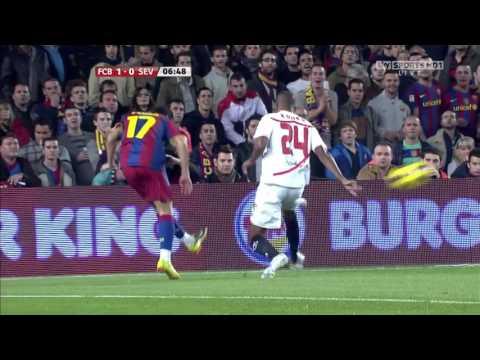 barcelona vs sevilla  la liga 30-10-2010 -720HD