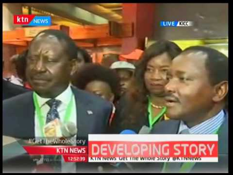 Raila Odinga says Jubilee is violating the constitution during the campaign process