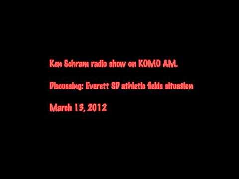 Audio Clip of Ken Schram radio show on KOMO AM 1000 discussing athletic fields
