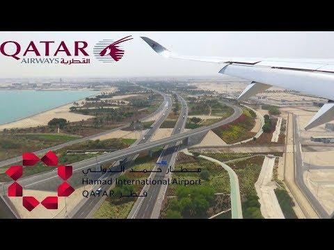 Landing at Hamad International Airport Doha| Qatar Airways A350 - A7-ALI