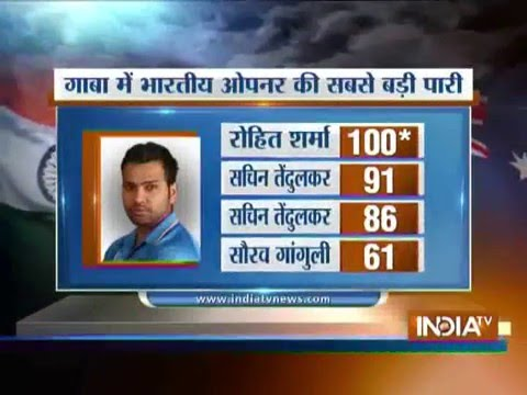 India vs Aus, 2nd ODI: Rohit Sharma Hits 2nd Century (124 off 121 Balls) of the ODI Series