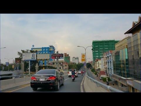 Cambodia Trip Phnom Penh From Airport to 7Makara Sky Bridge   Traffict in Cambodia #9
