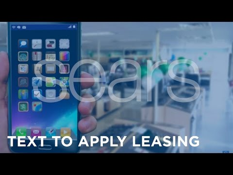 Sears - SHO Text To Apply Leasing