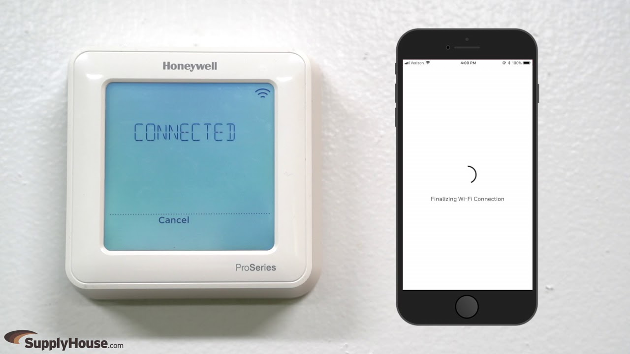 How to Connect the Honeywell T6 Pro Smart Wi-Fi Thermostat to the Honeywell  Home App