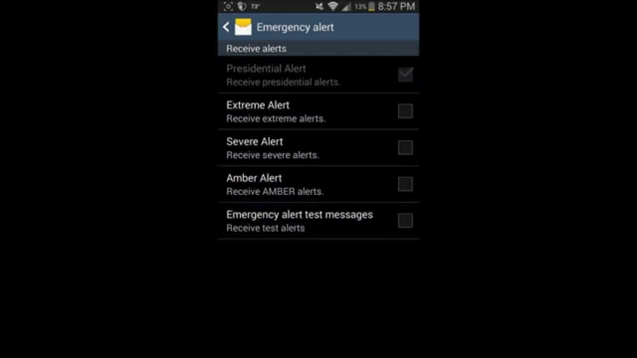 How to Turn off Emergency Alerts on Samsung Galaxy S3